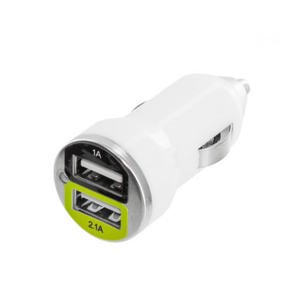 Turbo Dual Port Car Charger White